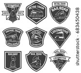 set of the emblems with vintage ... | Shutterstock .eps vector #683650438