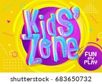 kids zone vector banner in...