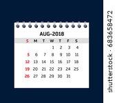 Simple August Calendar For 201...