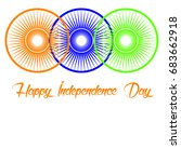 15th august  the independence...   Shutterstock .eps vector #683662918