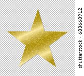 golden star on transparent... | Shutterstock . vector #683668912