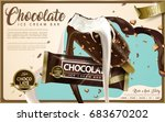 chocolate ice cream bar ads ... | Shutterstock .eps vector #683670202
