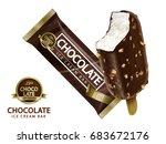 chocolate ice cream bar design  ...   Shutterstock .eps vector #683672176