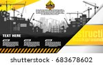 construction silhouette... | Shutterstock .eps vector #683678602