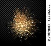 abstract optical fiber glitter... | Shutterstock .eps vector #683682772