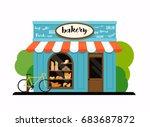 the facade of a bakery shop.... | Shutterstock .eps vector #683687872