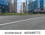 empty asphalt road front of...   Shutterstock . vector #683688772