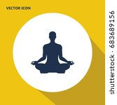 meditate  yoga vector icon.... | Shutterstock .eps vector #683689156