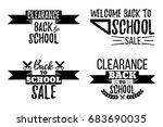 set of clearance sale school... | Shutterstock .eps vector #683690035