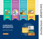 infographic currencies | Shutterstock .eps vector #683691442