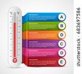 infographics thermometer design ... | Shutterstock .eps vector #683697586
