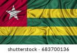 3d flag of togo silk texture | Shutterstock . vector #683700136