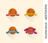 set of basketball graphic icons ... | Shutterstock .eps vector #683704396