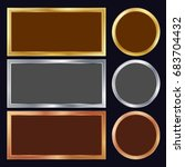 gold  silver  bronze  copper... | Shutterstock .eps vector #683704432