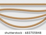 vector cartoon isolated rope... | Shutterstock .eps vector #683705848