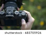 Camera On Hand  Landscape...