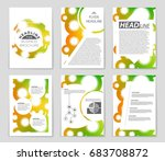 abstract vector layout... | Shutterstock .eps vector #683708872