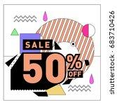 summer sale memphis style web... | Shutterstock .eps vector #683710426