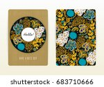 cover design with floral... | Shutterstock .eps vector #683710666
