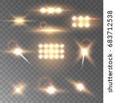 set golden vector stadium... | Shutterstock .eps vector #683712538