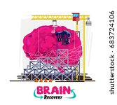 recovery or healing your brain... | Shutterstock .eps vector #683724106