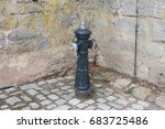 in a historical city of bavaria ... | Shutterstock . vector #683725486
