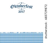 oktoberfest background with... | Shutterstock .eps vector #683729872