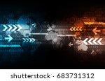 vector abstract background... | Shutterstock .eps vector #683731312