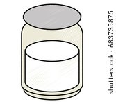 mason jar with ingredient... | Shutterstock .eps vector #683735875