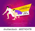 concept of sportsman playing... | Shutterstock .eps vector #683742478