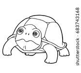 cartoon cute turtle coloring...   Shutterstock .eps vector #683743168
