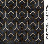 seamless geometric pattern on... | Shutterstock . vector #683745952