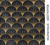 seamless geometric pattern on...   Shutterstock . vector #683745958