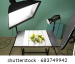 professional equipment and... | Shutterstock . vector #683749942