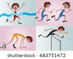 athletics 2 a bunch of athletes ... | Shutterstock .eps vector #683751472