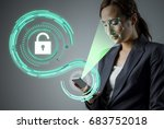 facial recognition system of...   Shutterstock . vector #683752018