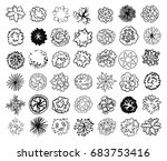 various trees  bushes and... | Shutterstock .eps vector #683753416
