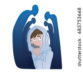social anxiety disorder  social ... | Shutterstock .eps vector #683753668