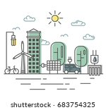energy saving and... | Shutterstock .eps vector #683754325