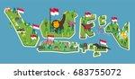 dirgahayu indonesia. vector... | Shutterstock .eps vector #683755072
