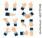 holding hands in different... | Shutterstock .eps vector #683759188