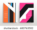covers with minimal design.... | Shutterstock .eps vector #683763502