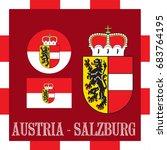 national ensigns of salzburg  ... | Shutterstock .eps vector #683764195