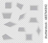 transparent realistic paper... | Shutterstock .eps vector #683764342
