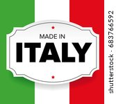 made in italy label vector and... | Shutterstock .eps vector #683766592