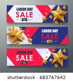 labor day sale promotion... | Shutterstock .eps vector #683767642