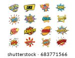 set of colorful comic speech... | Shutterstock .eps vector #683771566