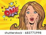omg glamorous kitsch pop art...   Shutterstock .eps vector #683771998
