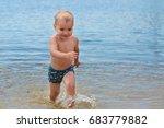 happy little boy having fun and ... | Shutterstock . vector #683779882