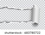 vector realistic torn paper... | Shutterstock .eps vector #683780722